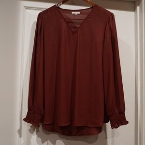 Maurices Maroon Women's Fall/Winter top Large
